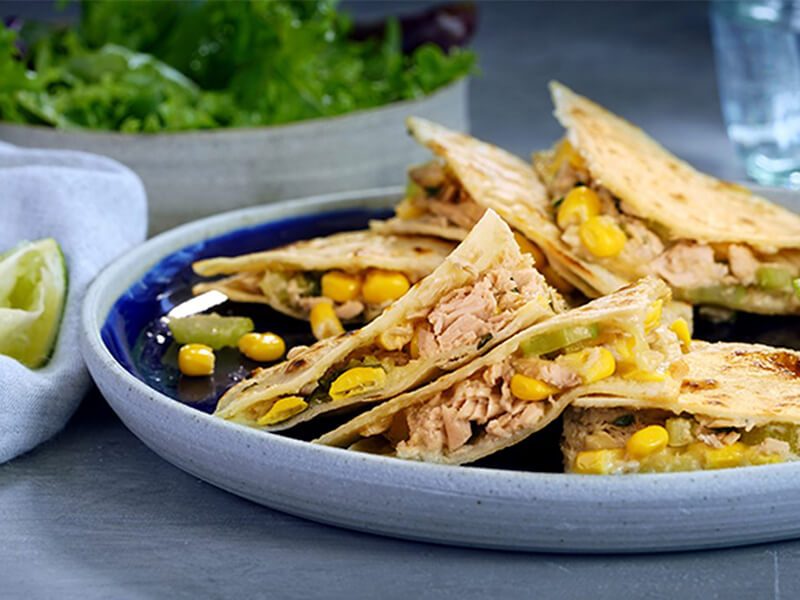 Sirena Tuna & Corn Quesadillas