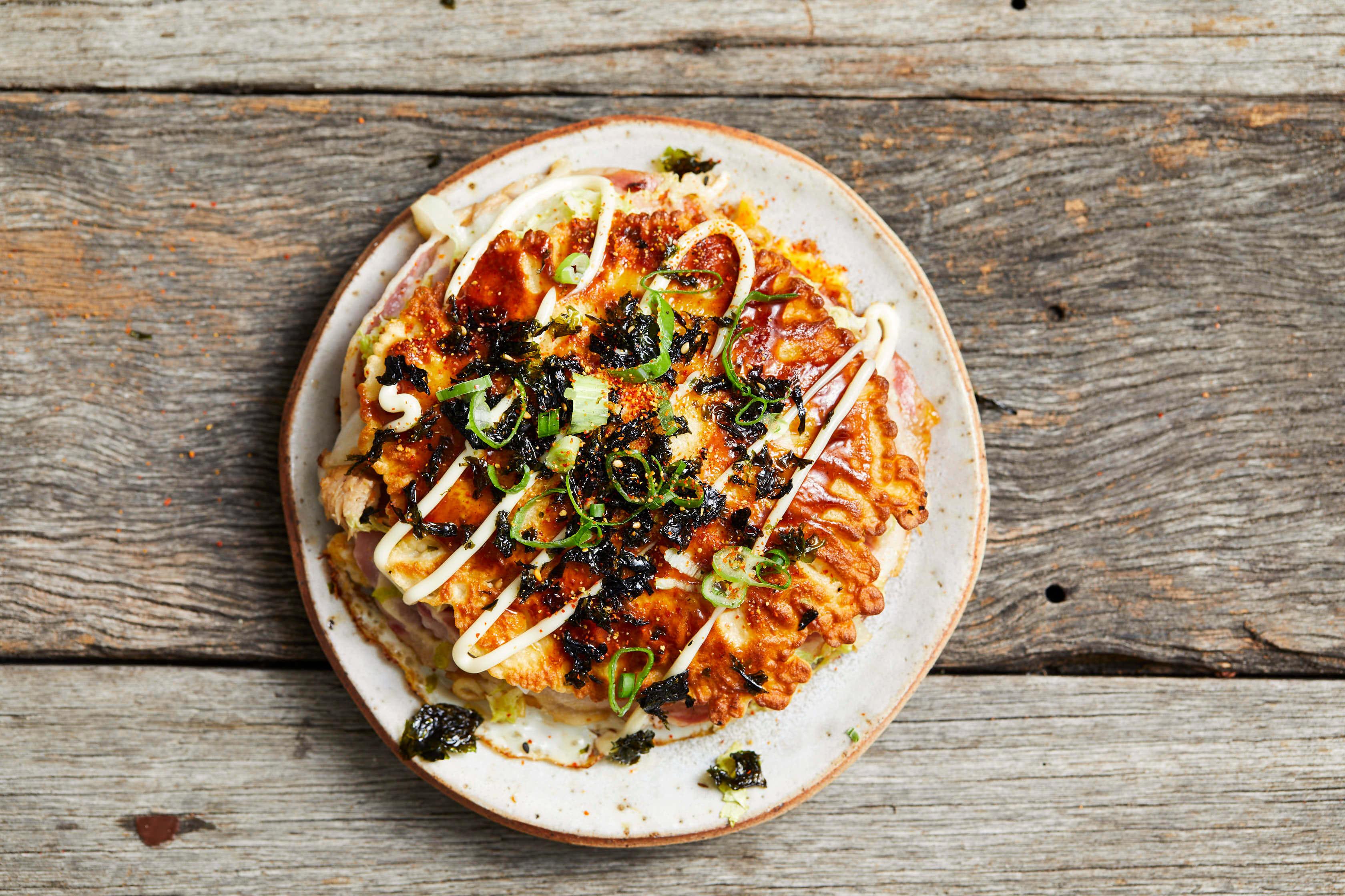 Hiroshima Okonomiyaki with Sirena Tuna