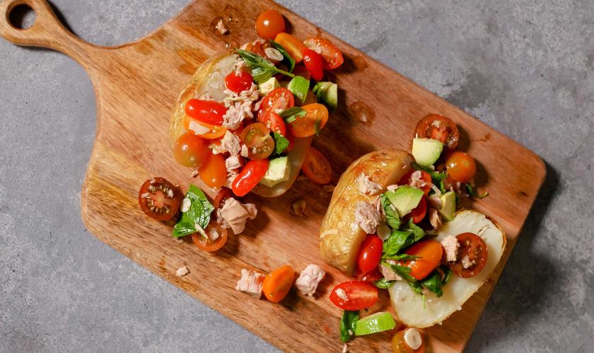 Leah Itsines' Baked Potato with Sirena Tuna Salsa