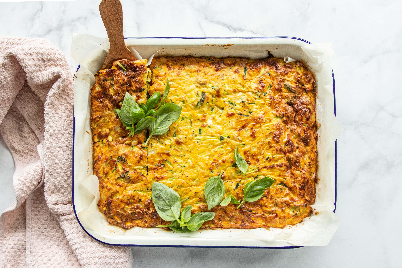 Leah Itsines' Zucchini & Tuna Slice